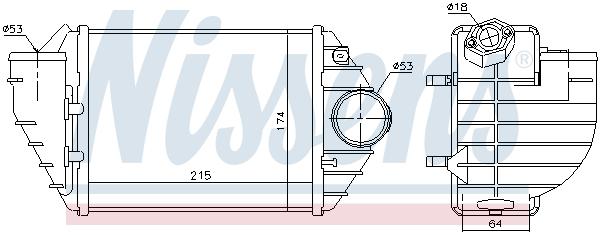 Intercooler radiateur de turbo NISSENS 96690 (X1)