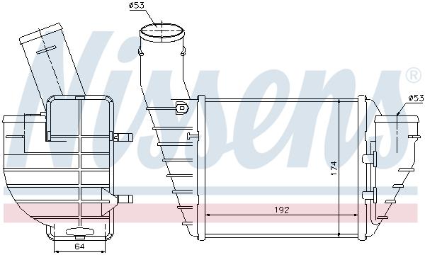 Intercooler radiateur de turbo NISSENS 96691 (X1)