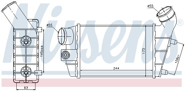 Intercooler radiateur de turbo NISSENS 96698 (X1)