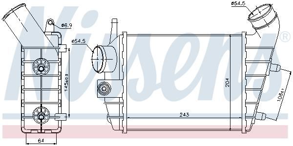 Intercooler radiateur de turbo NISSENS 96699 (X1)