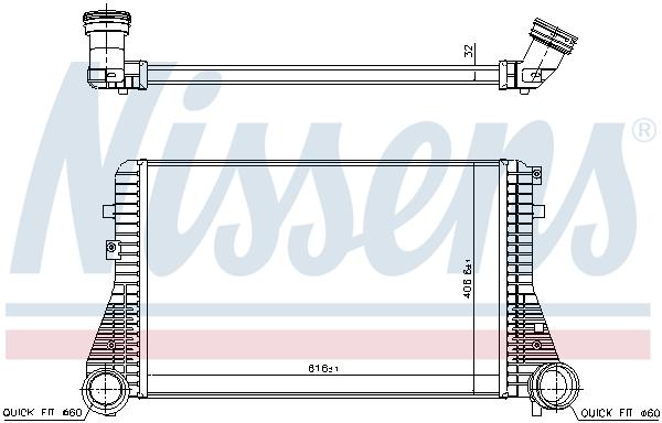 Intercooler radiateur de turbo NISSENS 96715 (X1)