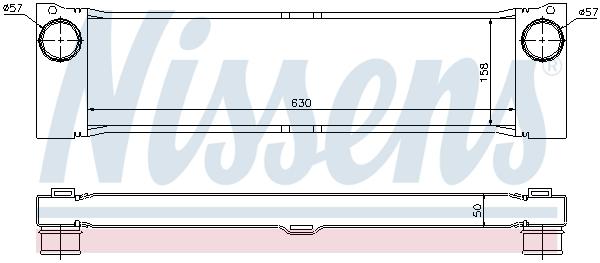 Intercooler radiateur de turbo NISSENS 96729 (X1)