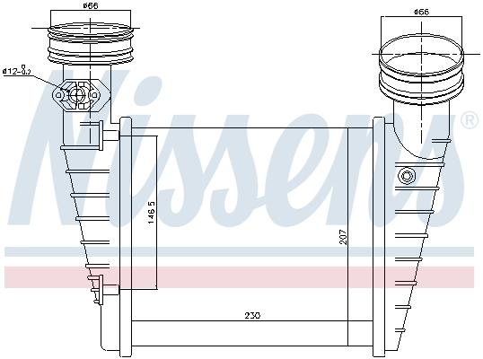 Intercooler radiateur de turbo NISSENS 96731 (X1)