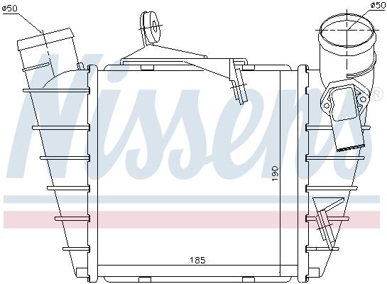 Intercooler radiateur de turbo NISSENS 96770 (X1)