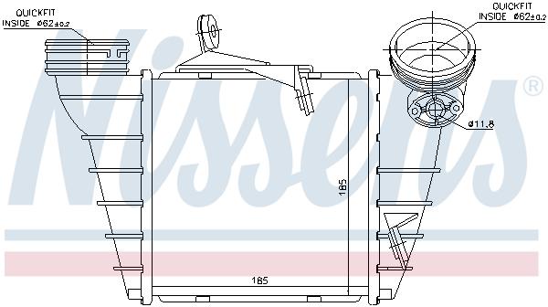 Intercooler radiateur de turbo NISSENS 96773 (X1)