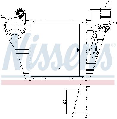 Intercooler radiateur de turbo NISSENS 96847 (X1)