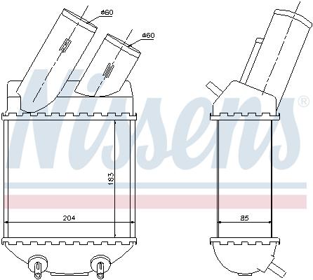 Intercooler radiateur de turbo NISSENS 96855 (X1)