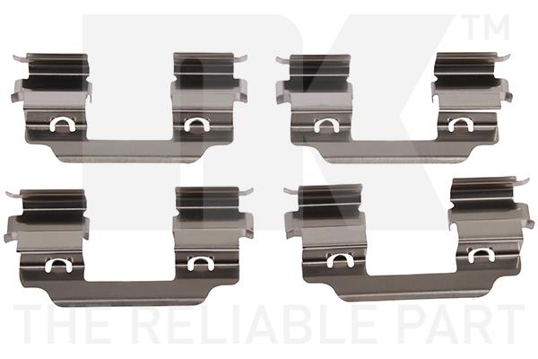 Kit de montage plaquettes de frein Eurobrake 7915648 (X1)