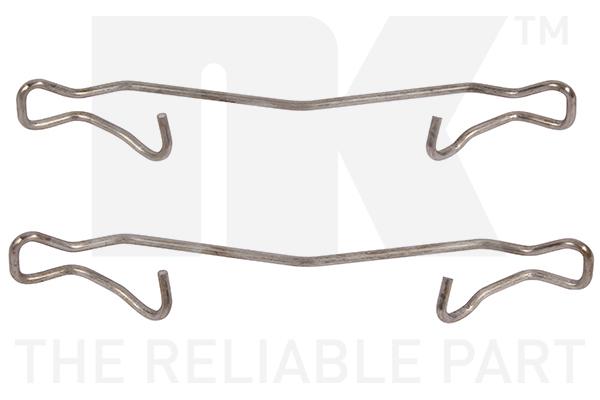 Kit de montage plaquettes de frein Eurobrake 7925121 (X1)