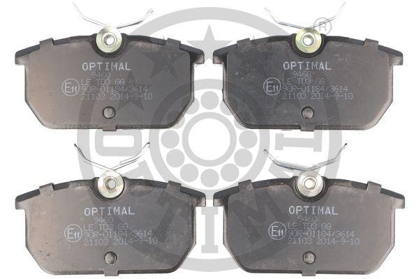 Plaquettes de frein arriere OPTIMAL BP-09460 (Jeu de 4)