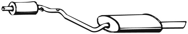 Silencieux arriere WALKER 02694 (X1)