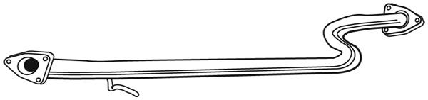 Tube d'echappement WALKER 03349 (X1)