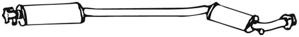Silencieux central WALKER 03467 (X1)