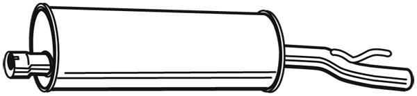 Silencieux arriere WALKER 03914 (X1)