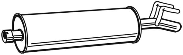 Silencieux arriere WALKER 03983 (X1)