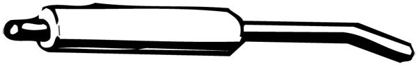 Silencieux arriere WALKER 04004 (X1)
