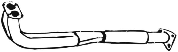 Tube d'echappement WALKER 05324 (X1)
