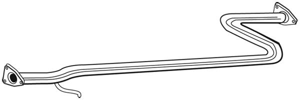 Tube d'echappement WALKER 05449 (X1)