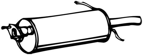 Silencieux arriere WALKER 06246 (X1)