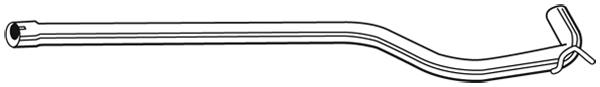 Tube d'echappement WALKER 08997 (X1)