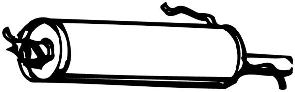 Silencieux arriere WALKER 13174 (X1)