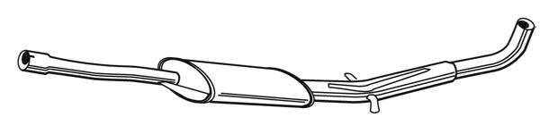 Silencieux central WALKER 14893 (X1)