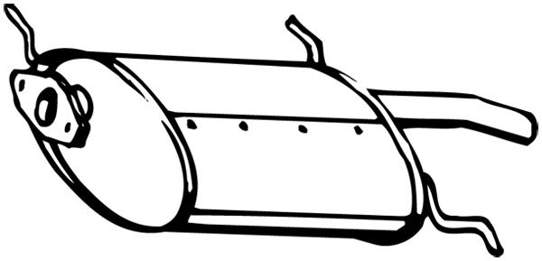 Silencieux arriere WALKER 15750 (X1)