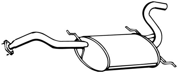 Silencieux arriere WALKER 16496 (X1)