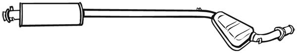 Silencieux central WALKER 16861 (X1)