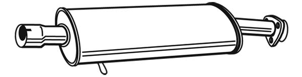 Silencieux central WALKER 17851 (X1)