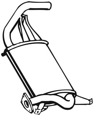 Silencieux arriere WALKER 17888 (X1)