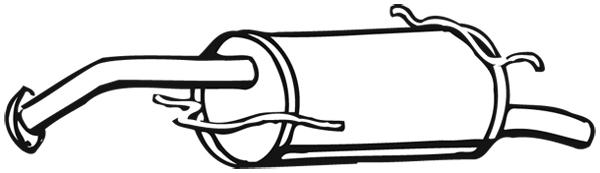 Silencieux arriere WALKER 17939 (X1)