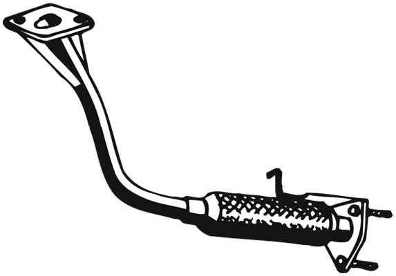 Tube d'echappement WALKER 18123 (X1)