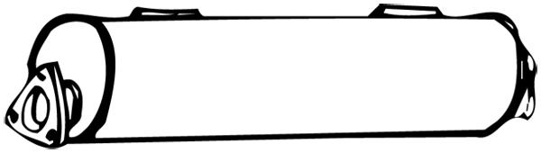 Silencieux central WALKER 18218 (X1)