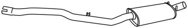 Silencieux central WALKER 18984 (X1)