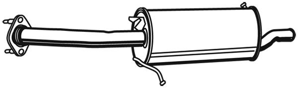 Silencieux arriere WALKER 21133 (X1)