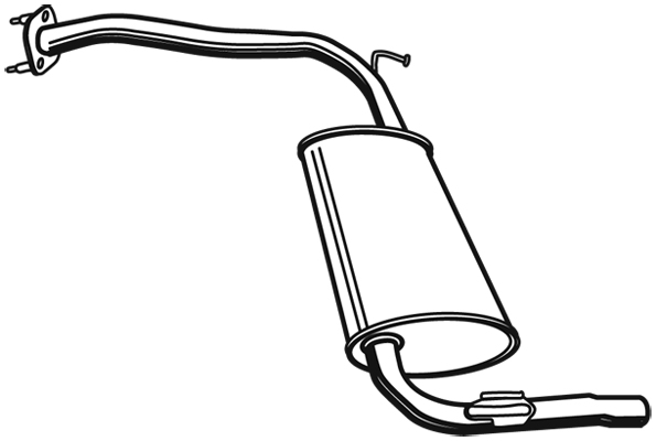 Silencieux arriere WALKER 21135 (X1)