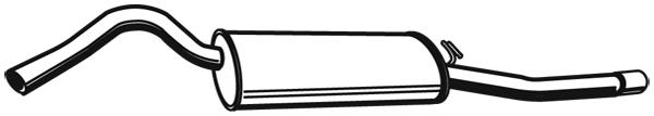 Silencieux arriere WALKER 21340 (X1)