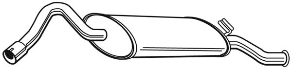Silencieux arriere WALKER 21342 (X1)