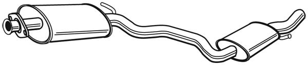 Silencieux central WALKER 21386 (X1)