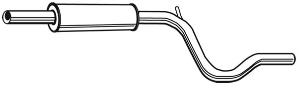 Silencieux central WALKER 21430 (X1)