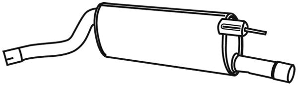 Silencieux arriere WALKER 21474 (X1)