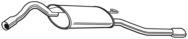 Silencieux arriere WALKER 21756 (X1)