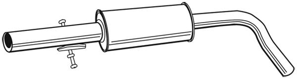 Silencieux central WALKER 21874 (X1)