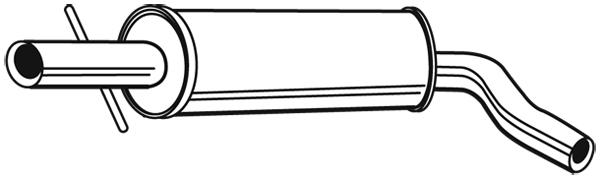 Silencieux central WALKER 21903 (X1)