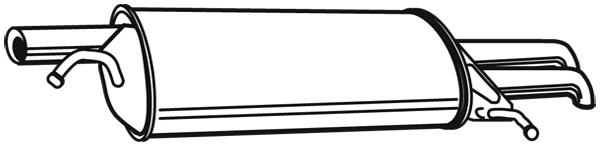 Silencieux arriere WALKER 22070 (X1)