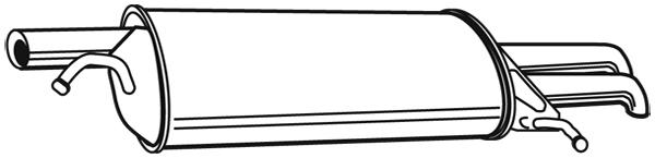 Silencieux arriere WALKER 22079 (X1)