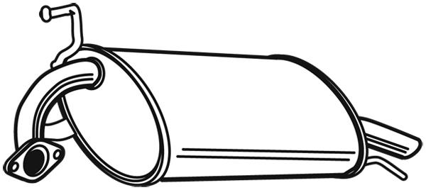 Silencieux arriere WALKER 22172 (X1)