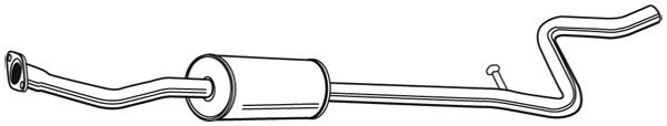 Silencieux central WALKER 22307 (X1)