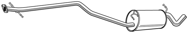 Silencieux central WALKER 22656 (X1)